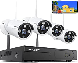 SMONET Wireless Security Camera Systems,8-Channel Full HD 1080P Surveillance NVR Kits,4pcs 1080P(2.0 Megapixel) Indoor Out...
