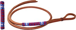 Horse Leather Western Saddle Tack Harness Over and Under Beaded Whip 700RT06
