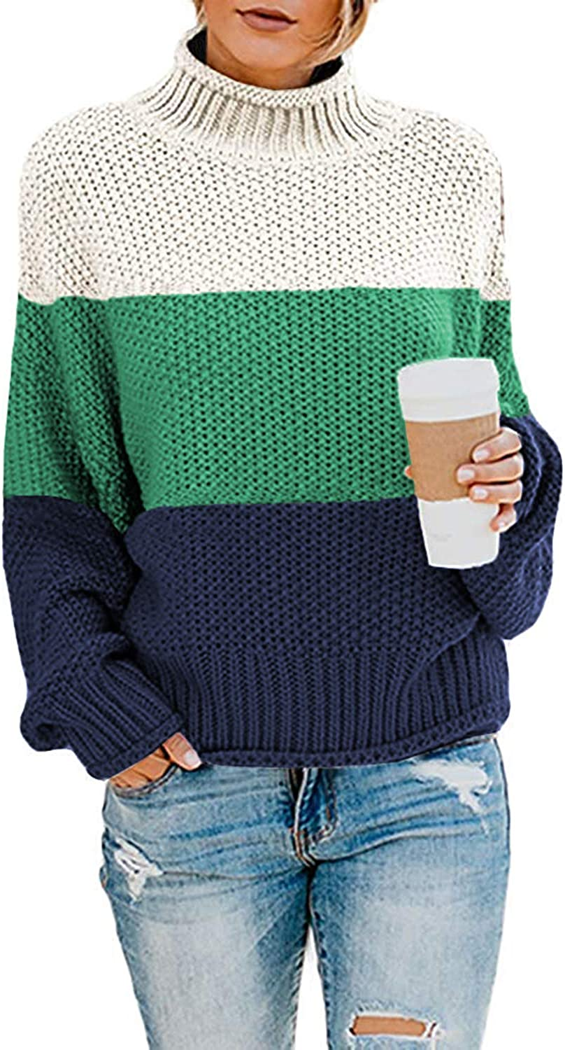 Dokotoo Women Solid Turtleneck Balloon Industry No. 1 Pull Sweaters Ranking TOP9 Long Sleeve