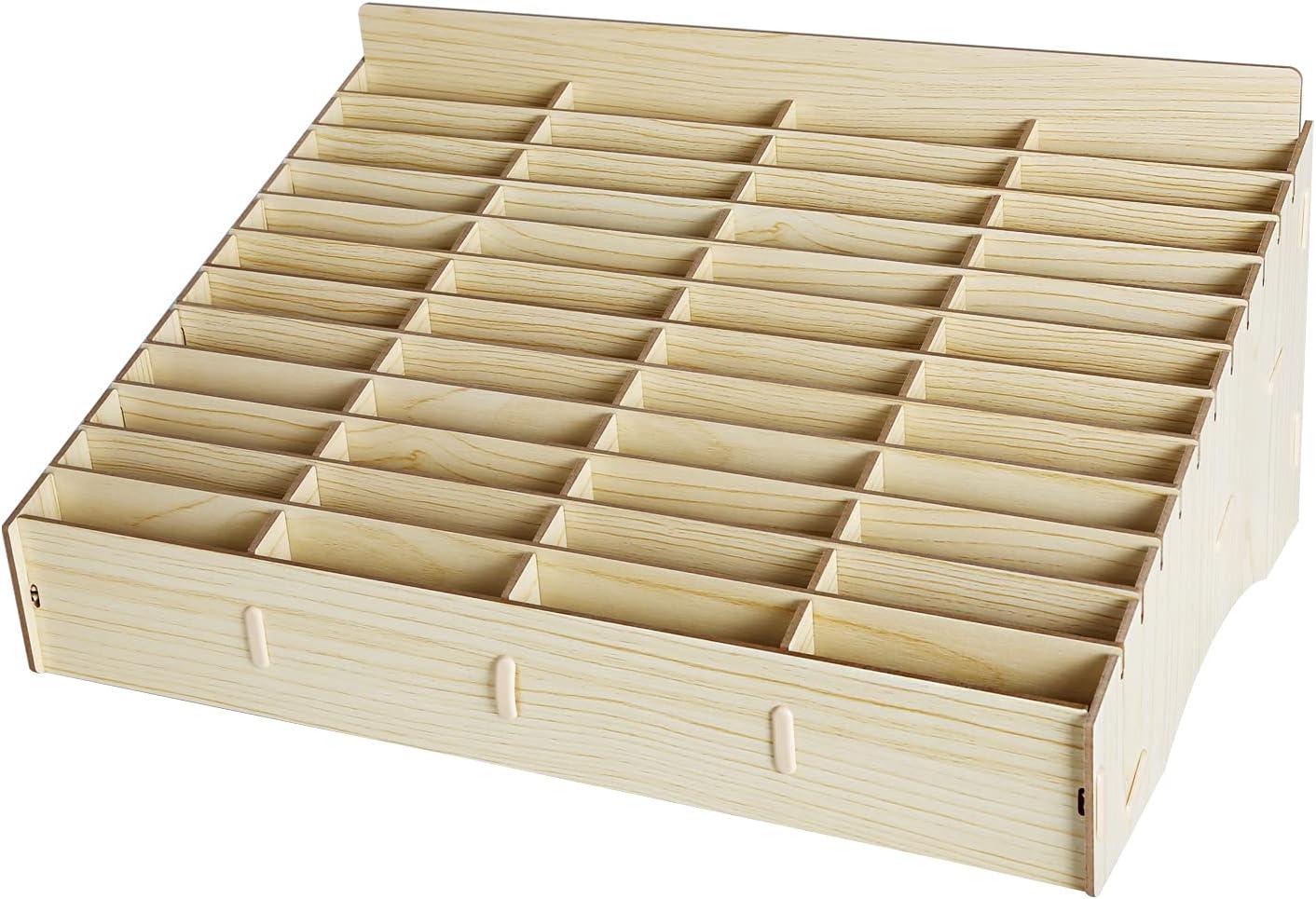 HTM 48 Grid Wooden Cell Phone outlet Storage B Holder Organizer Desktop Dealing full price reduction