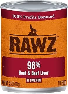 RAWZ DC 96% BEEF LIVER 12/12.5 OZ