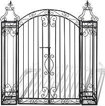 """Festnight Ornamental Iron Garden Driveway Entry Gate, 4' x 8"""" x 4' 5"""", Black"""