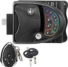 $139 » MKING Zinc Alloy RV Keyless Entry Door Lock Latch Handle Knob Deadbolt for Trailer Caravan Camper with Keypad & Fob 20m Wi...