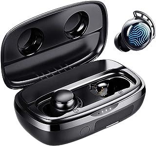 Fone de Ouvido, Tribit Tempo de Reprodução de 100 Horas Bluetooth 5.0 IPX8 Controle de toque à prova d'água Ture Fone de O...