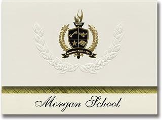 Signature Ankündigungen Morgan Schule (Morgan, TX) Graduation Ankündigungen, Presidential Stil, Elite Paket 25 Stück mit Gold & Schwarz Metallic Folie Dichtung B078WGNWHX  Hochwertige Materialien