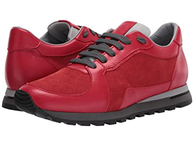 Canali Suede/Calfskin Runner (Red) Men