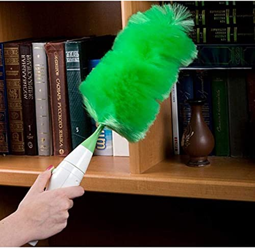 Prizaco Hand Held Grabbing and Holding dust from Home and Car Electric Feather Spin Duster for Cleaning Furniture Electronics and Blinds Dust Cleaning Brush Set Green