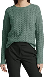 Women's Basic Crewneck Casual Pullover Solid Color Knit...