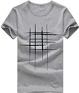 iTLOTL Men Hiking Blouse Printing Tees Shirt Short Sleeve T Shirt Cotton Casual top