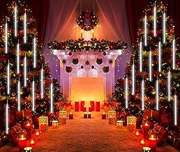 Meteoor kerstverlichting, 30cm 8 buizen Regenlichten, regenjas, plug in drop Rain, lichtslingers voor Kerstmis, feest, Hal...