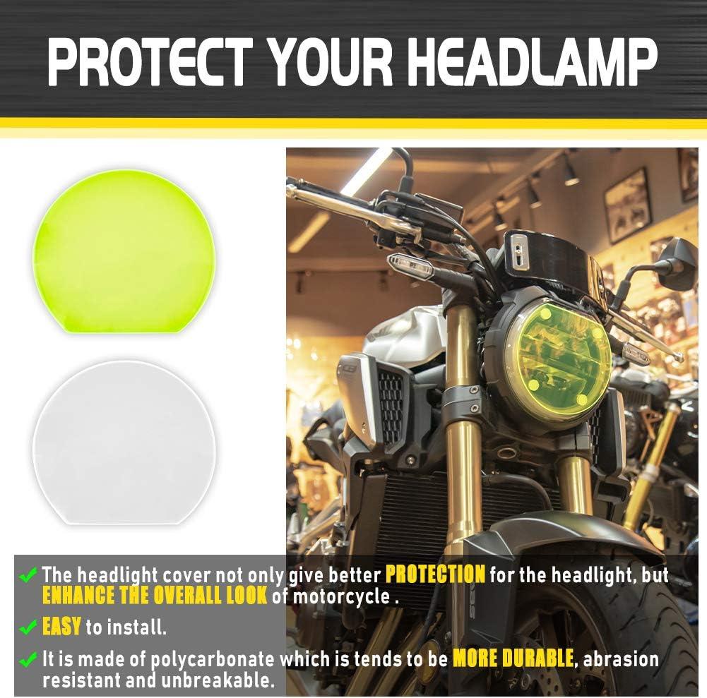 Lorababer Motorcycle Headlight Lens Guard Protection for Honda CB650R CB1000R 2018 2019 2020 2021 Clear CB 650R CB 1000R 18 19 20 21 Head Light Screen Shield Guard