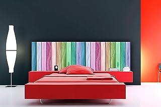 Cabecero Cama Cartón Ecológico Nido de Abeja Imitación Madera Multicolor Impresión Digital 135x60 cm | Varias Medidas | Cabecero Ligero, Elegante, Resistente y Económico |
