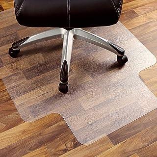 ASHOMELIチェアマット 床保護マット 90×120cm PVC厚み1.5mm ずれない 透明 傷防止 滑り止め 丸洗い可能 カット可能 机下/フロア/畳/床暖房/たたみ/ダイニング/オフィス/椅子 ハードフロア専用