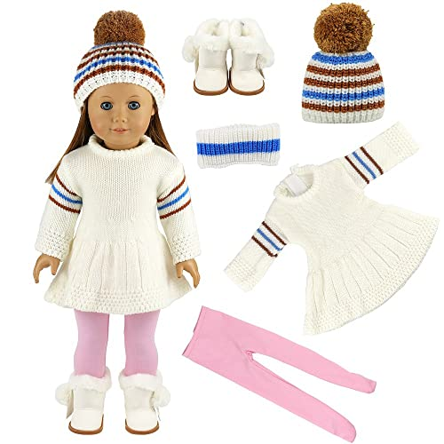 Miunana Winter Clothes For 16 - 18 Inch American Girl Dolls And Other 16 -  18 fea6bd437