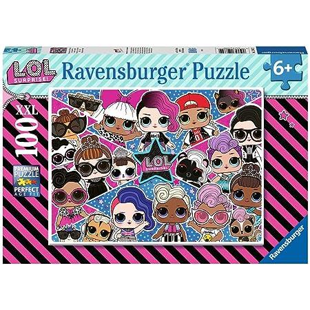 Ravensburger- 12882 Puzzle 100 pièces XXL-Amies pour la Vie L.O.L. Surprise Enfant