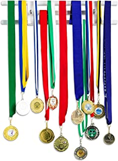 "Pretty Display `Invisible` Medal Hanger: Strong, Stylish, Medal Display Rack, 15"" Clear Acrylic Medal Holders for Runners, Soccer, Gymnastics & All Sports"