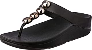 5d3cc8551 FitFlop Womens Rola Rubber Open Toe Casual Slide Sandals