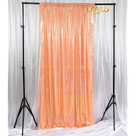 LQIAO Backdrop 5x8 Laser Fruit Green Glitter Photography Booth Photo Background Props for Birthday Wedding Makeup YouTube Videos Living Room Shooting