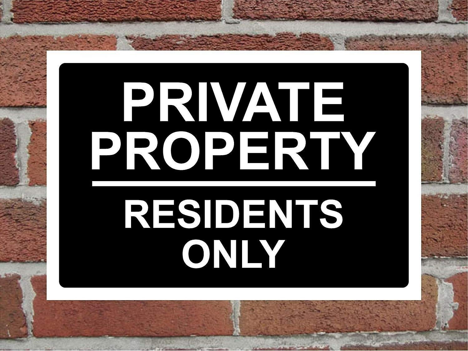 Private Land No Public Access Or Right Of Way Correx Warning Sign 300 x 200mm.