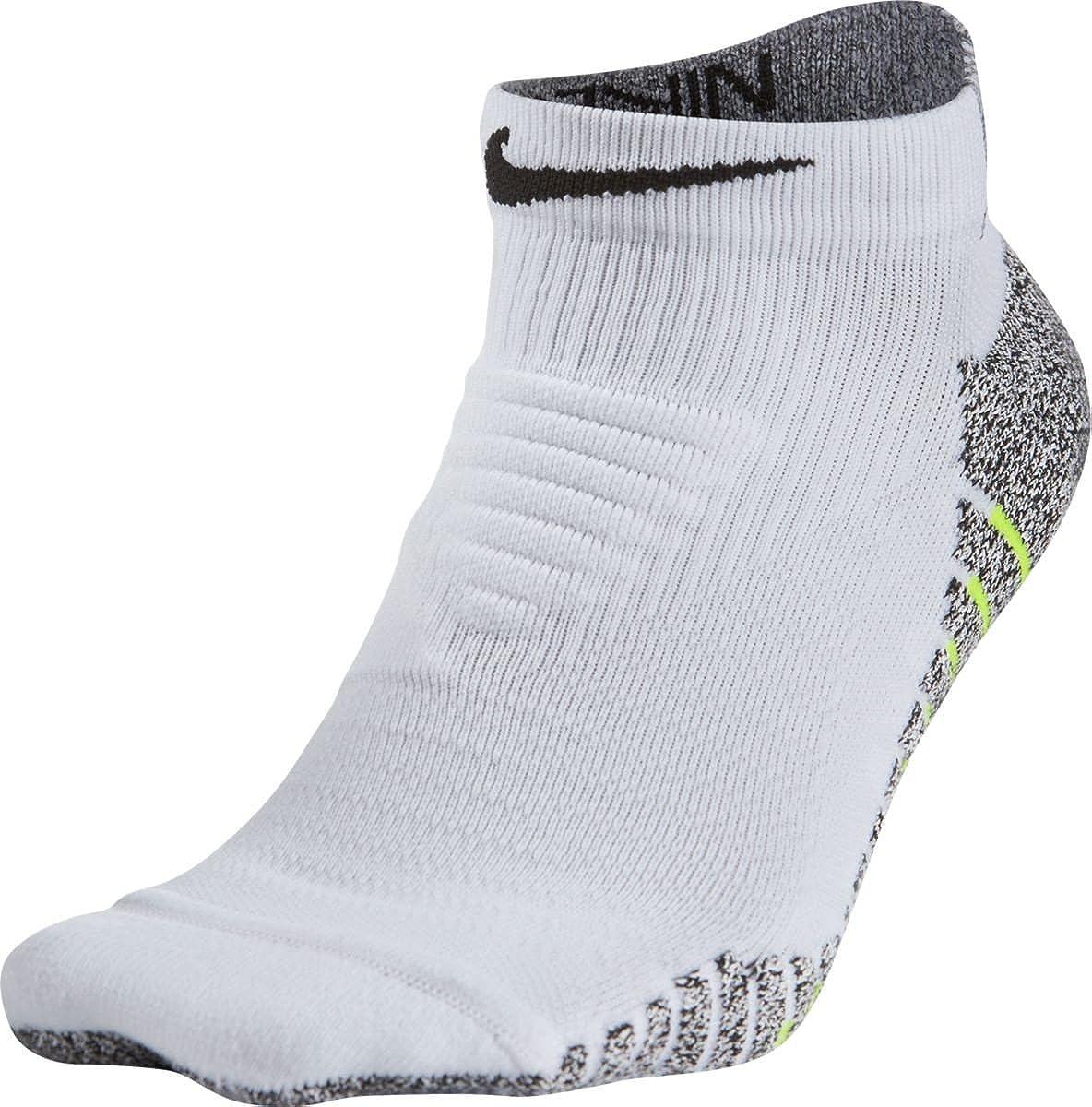 Nike Grip Men's Lightweight Low Training Socks X-Large (Fits Men Size 12-15) White, Black SX5751-100
