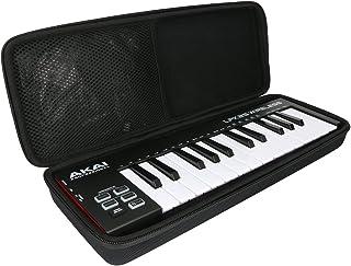 para AKAI Professional LPK25 - Teclado controlador USB MIDI de 25 teclas EVA Duro Viaje Estuche Bolso Funda por Khanka