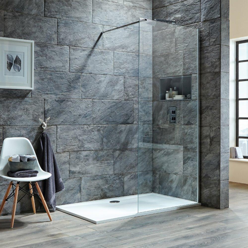 Scudo i8 Wetroom fácil de limpiar mamparas de ducha de acero inoxidable soporte para 1000 mm: Amazon.es: Bricolaje y herramientas