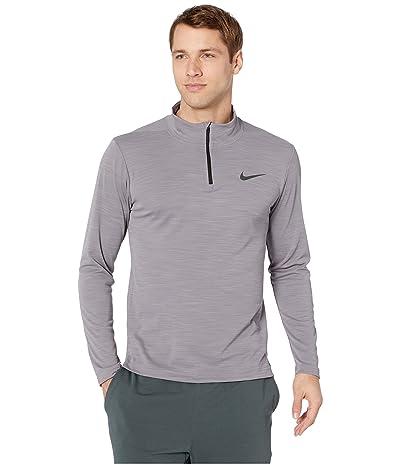 Nike Superset Top Long Sleeve 1/4 Zip (Gunsmoke/Black) Men