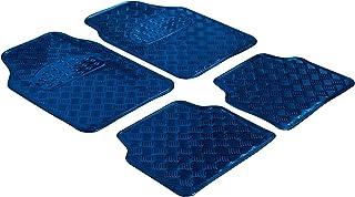 WALSER rubbermatten, universele auto mat metallic, vloermatten complete set traanplaat, beschermmat blauw, op maat gesnede...