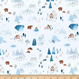 Dear Stella Brave Enough To Dream Dreamscape White, Quilting Fabric by the Yard