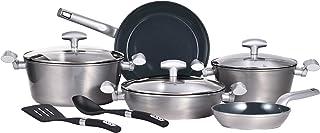 Bergner Blaze 10 pcs Cookware Set, Forged Aluminum, Induction Base, Grey Colour, BG30210GY