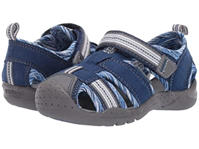 pediped Sahara Flex (Toddler/Little Kid) (Blue Stripe) Boys Shoes