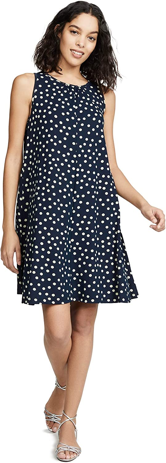 Three Dots Womens Spring Dot Print Dress Casual Dress