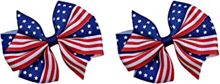 American Flag Hair Bow Set for 4th of July Funny Girl Designs