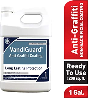 Rain Guard Water Sealers VG-7001 1 gal Ready to Use Vandlguard Non-Sacrificial Anti-Graffiti Coating – Painted & Unpainted Concrete, Block, CMU, Brick, EIFS, Stucco, Wood & Painted Metal, Clear