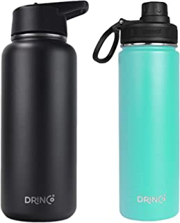 Drinco - Stainless Steel Water Bottle Double Wall Vacuum Insulated | Perfect for Traveling Camping Hiking (Combo 32oz + 20...