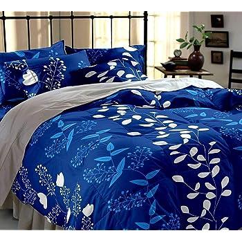 STARnSTYLE Cotton 140 TC Bedsheet (Double_Blue)