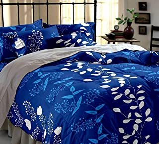 STARnSTYLE Cotton 140 TC Bedsheet (Double_Blue)
