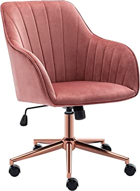 Duhome Home Office Chair Computer Desk Chair Armchair Task Chair Velvet Upholstered Chair Height Adjustable Comfortable Stool