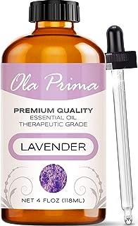 Ola Prima 4oz - Premium Quality Lavender Essential Oil (4 Ounce Bottle) Therapeutic Grade Lavender Oil