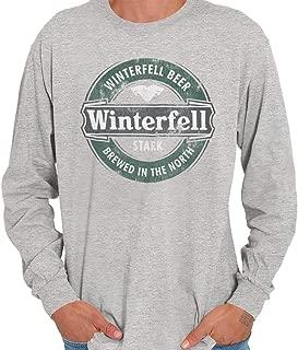 Winterfell Beer Brewed North Beer Drinker Long Sleeve T Shirt