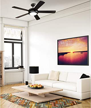 Westinghouse Lighting 7224200 Comet Indoor Ceiling Fan with Light, Matte Black