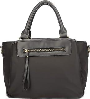KKXIU Women Handle Handbags Shoulder Pockets Zipper Purse Satchel Crossbody Nylon Bags