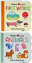 2 Pack Chunky Lift-a-Flap Board Books: First Words / Animals Lift-a-Flap Books (Babies Love)