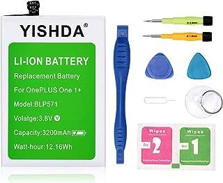 Oneplus One Battery, YISHDA 3200mAh BLP571 Replacement Battery for OnePlus One Smartphone One Plus One 1+ with Installation Tools Kit [ 18 Month Warranty]