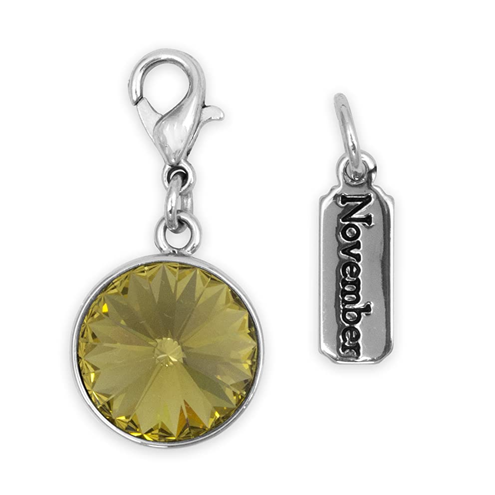 Cousin DIY Create Your Style November Birthstone Charms, Made with Swarovski Crystal