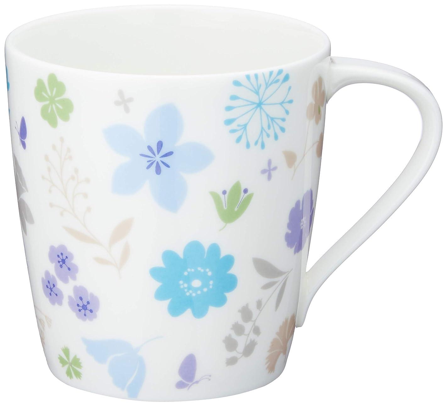 欲望関係するベアリングNARUMI(ナルミ) Styles(スタイルズカフェ) マグカップ(ブルーフラワー) 290cc ボーンチャイナ 51199-2697