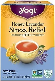 Yogi Tea Herbal Stress Relief, Honey Lavender 16 ea ( pack of 4)