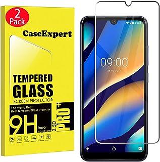 CaseExpert 2-pack – Wiko View3 Lite härdat glas, härdat glas kristall klart skärmskydd skydd & poleringsduk för Wiko View3...