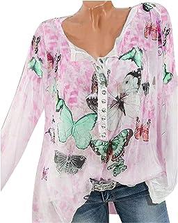 Amazon.es: Puntillas - Camisetas, tops y blusas / Mujer: Ropa