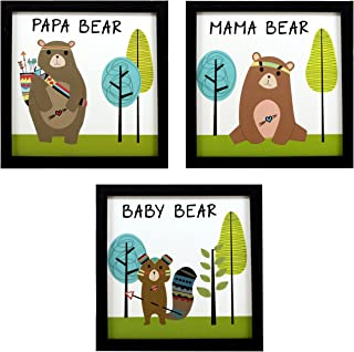 Indianara Framed Wall Hanging Kids Room Decor Art Prints (1052) 8.7 inch X 8.7 inches Without Glass,Synthetic Wood (Multic...